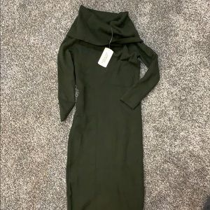 Forever 21 olive sweater dress